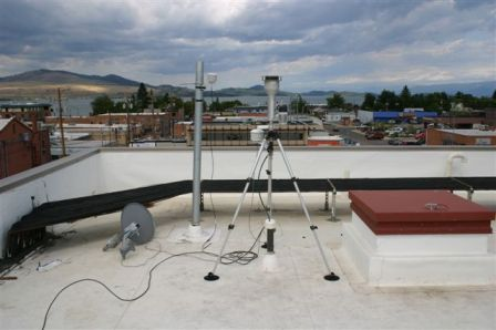 Air Quality Monitoring stations, Polson, MT - Picture taken by Chuck Page